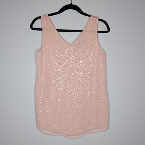 The Limited Pink Iridescent Sparkle Top